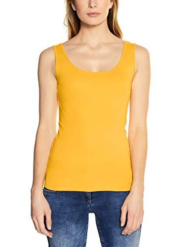 Cecil Damen 311049 Linda Trägershirt/Cami Shirt, Mango Yellow, Small