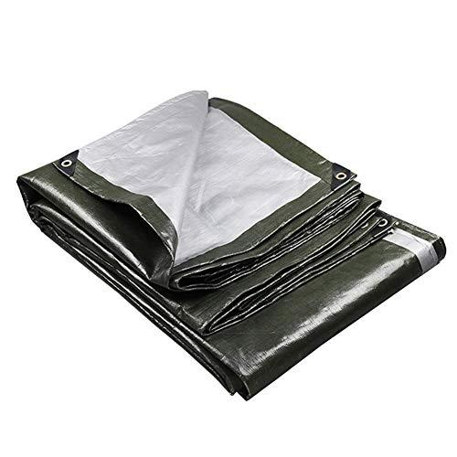 YXB dekzeil waterdicht Tarp, lichtgewicht regendichte zonnebrandcrème Cover doek, Wel gemaakt voor Trailers Cars Tent boot FENGMING (kleur : donkergroen, Maat : 6x6M) 3X3m Donker Groen