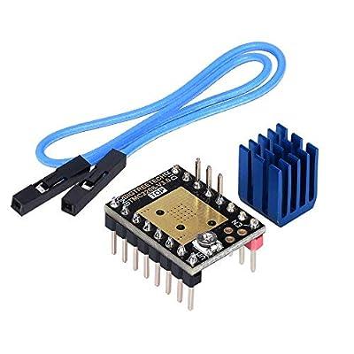 Kingprint TMC2208 V3.0 Stepper Damper with Heatsink Driver, Replacement Damper for A4988 DRV8825 for 3D Printer (STEP/DIY)