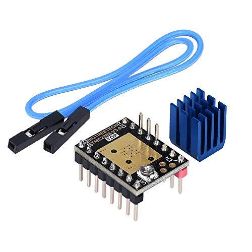 Kingprint TMC2208 V3.0 Stepper Dämpfer mit Kühlkörper-Treiber, Ersatzdämpfer für A4988 DRV8825 für 3D-Drucker(STEP/DIY)