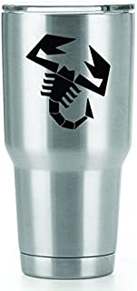 Scorpio Scorpion Vinyl Decals Stickers ( 2 Pack!!! ) | Yeti Tumbler Cup Ozark Trail RTIC Orca | Decals Only! Cup not Included! | 2 - 3 X 2.7 inch Black Decals | KCD1557