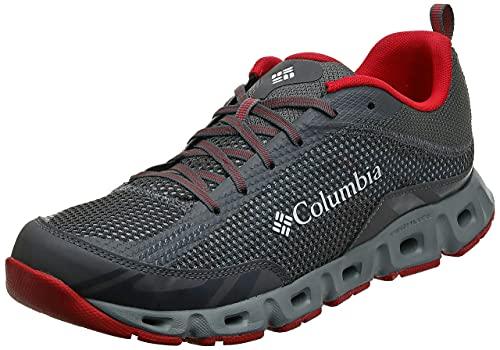 Columbia Drainmaker IV, Zapatillas Hombre, Grey (City Grey, Mountain Red 023), 41 EU