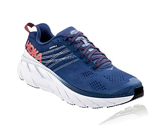 HOKA ONE ONE Men's Clifton 6 Running Shoes, Ensign Blue/Plein Air, 13 Wide US