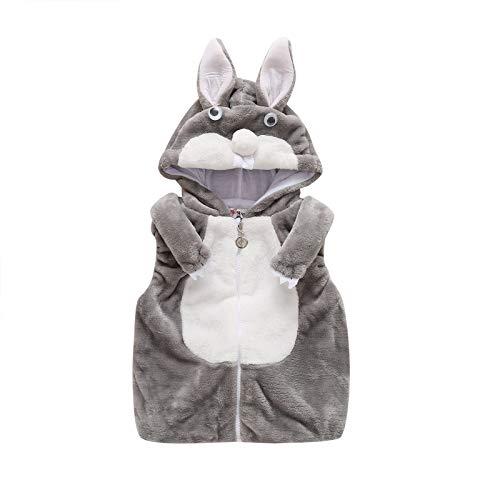 Chaqueta de forro polar con capucha y cremallera para bebé, diseño de panda con animales, estilo casual