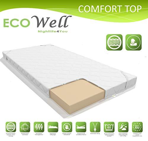*ECOWell 5 cm Comfort TOP KOMFORTSCHAUM KALTSCHAUM Topper MATRATZENAUFLAGE FÜR ALLE SCHLAFTYPEN MATRATZENTOPPER ORIGINAL (160 x 200 cm)*