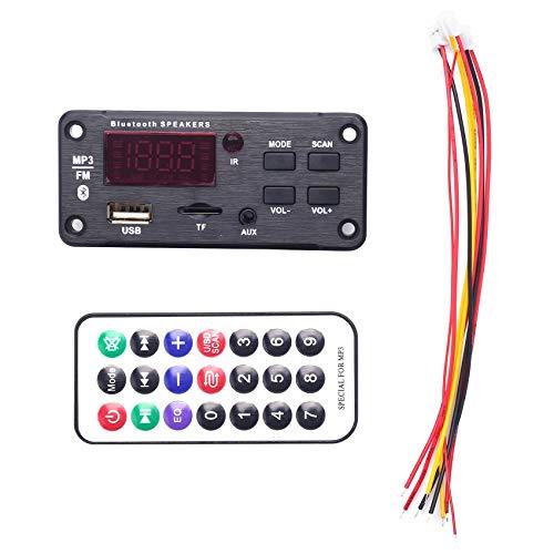 Bayda MP3 WMA decodificador tablero reproductor de control remoto 12 V módulo de audio soporte USB TF AUX FM módulo de radio de audio para accesorios de coche