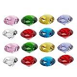 EXCEART 20 Pezzi di Cristallo Rubino Diamante Rubino Fermacarte Gioielli Ornamento Regalo ...