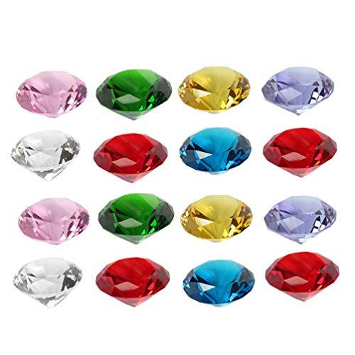 EXCEART 20 Piezas Cristal Diamante Rubí Pisapapeles Joyas Ornamento Regalo Boda Dispersión Confeti Decoraciones para El Hogar Florero Relleno Color Mezclado 20 Mm