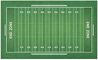 BIRSY Football Doormat, Field of The Game Strategy Tactics End Zone Touchdown Sports Competition Theme, Decorative Polyest...