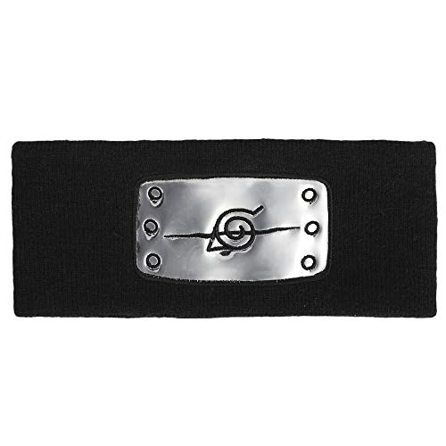 Naruto Leaf Village Knit Black Headband