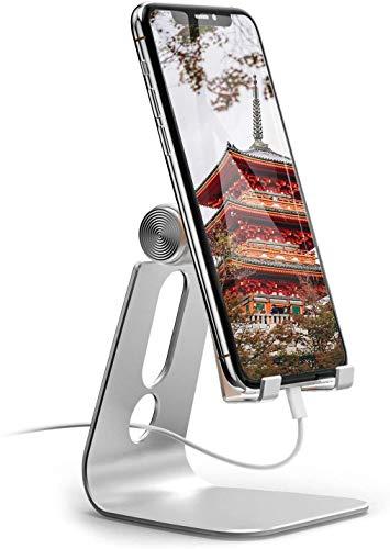 【 2020強化版】 スマホ スタンド ホルダー 角度調整可能, 携帯電話卓上スタンド : 卓上 充電スタンド,スマホ スタンド ホルダー 角度調整可能, 横, 縦, 携帯電話卓上スタンド : 卓上 充電スタンド, スマフォスタンド, アイフォンデスク置き台, aluminium, Nintendo Switch 対応, アイフォン, アンドロイド, iPhone 11, 11 Pro , 11 Pro Max, 11 プロ マックス XS XS Max XR X 8 plus 7 7plus 6 6s 6plus 5 5s se se2 第二世代, Xiaomi Redmi Note 8 9 10 pro mi, huawei p20 p30 lite, Sony Xperia, Nexus, android対応 (ホワイト)