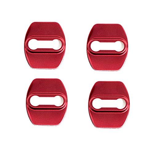LFOTPP Kona i20 i30 Tucson Coperchio Serratura Porta in Acciaio Inox Protezione Auto Accessori (Rosso)