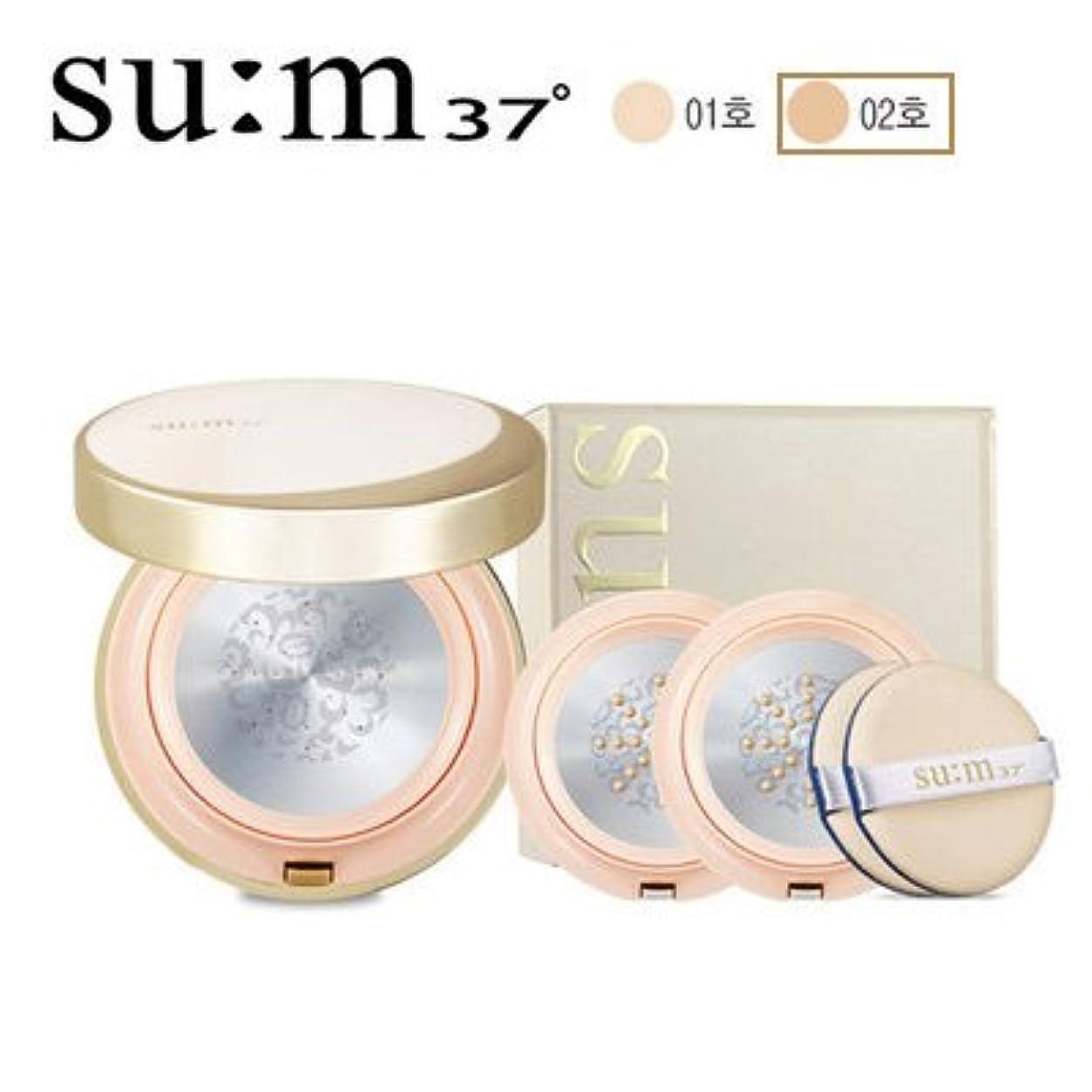 発表配分収益su:m37/スム37° スム37 AR TF グロウー メタルクッション 本品1個+リフィル2個 (sum 37oAir RisingTF Glow Cover Metal Cushion 15g + Refill 2ea) [海外直送品] (2号)