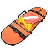 Bandera De Pesca Submarina De Buceo Boya Inflable De Señal De Alta Visibilidad para El Buceo Pesca Submarina Buceo Snorkeling Natación Naranja