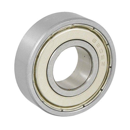 Dasing 15 x 35 x 11 mm, schermatura in miniatura, cuscinetto a sfera radiale 6202Z, colore argento e bianco
