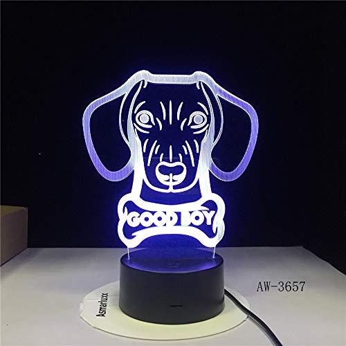 LED afstandsbediening 3D Touch BUON RAGAZZO bot model hond nachtlampje Novlety knop kleurrijk licht festival USB licht kerstcadeau