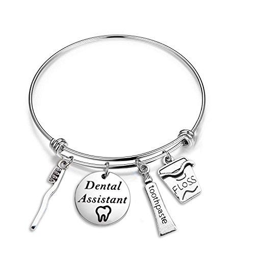 CHOROY Dentist Bracelet Dental Assistant Bracelet Dentist Graduation Gift Dental Hygienist Jewelry Future Dentist Gift (Dentist Assistant Bracelet)