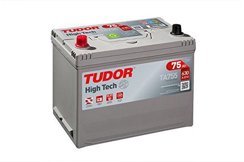 Batería para coche Tudor Exide HIGH-TECH 75Ah, 12V. Dimensiones: 270 x 173...