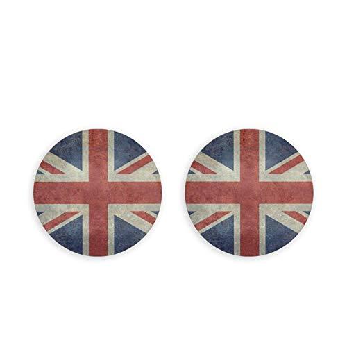 Bellissimi magneti per frigorifero/apribottiglie, con bandiera nazionale inglese Union Jack versione rotonda modello apribottiglie magnete emblema multifunzione 2 pezzi