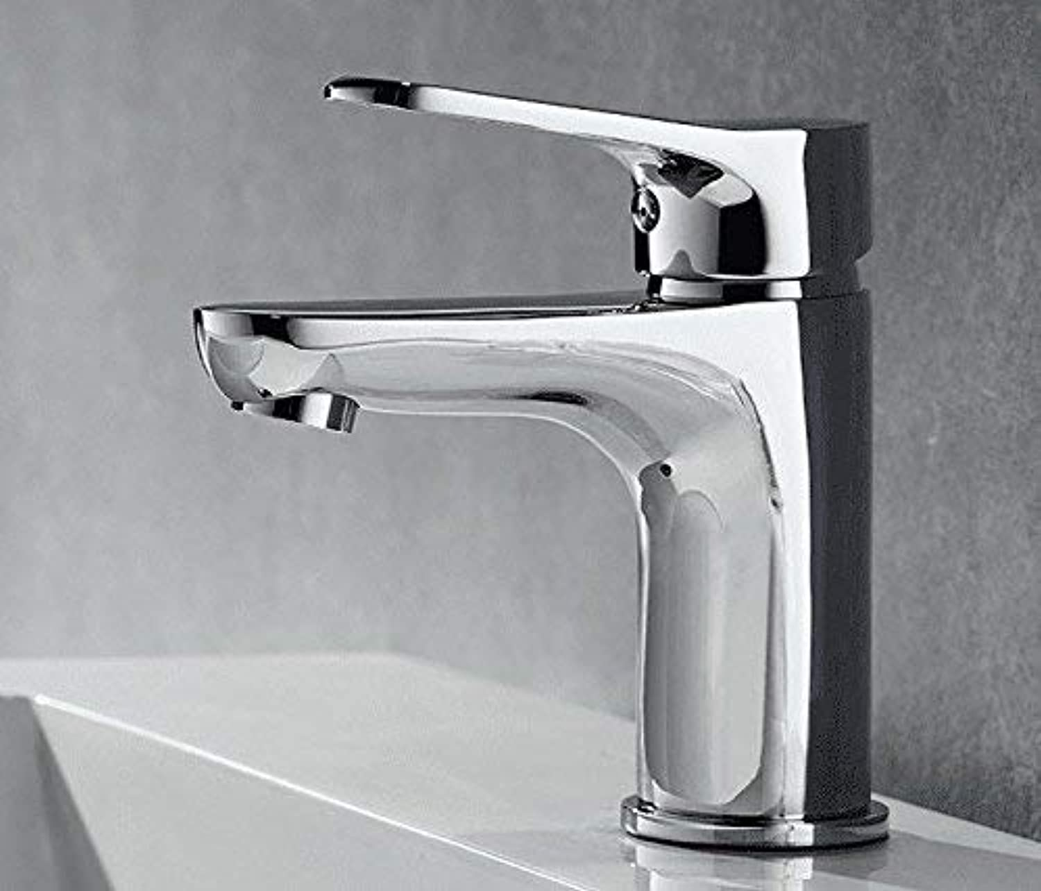 Oudan Sink Taps Hot and cold copper Basin Single hole bathroom