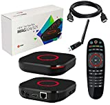 MAG 324 Original Infomir Linux HEVC H.265 IPTV Set Top Box with HDMI Cable & XstreamTec USB WLAN WiFi Dongle