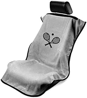 Seat Armour - GRE Grey Seat Protector Towel Cover with Tennis Logo SA100TRCQGE