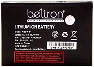 New 4340 mAh W-9 W9 Replacement Battery for Verizon Jetpack 4G LTE Mobile Hotspot AC791L & Netgear AC810