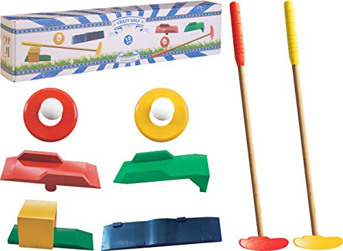 made2trade 10 teiliges Holz Golf Spielset