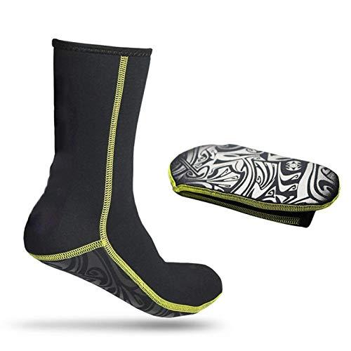 Oreilet Tauchsocken, rutschfeste Schnorchelsocken, langlebige, hochwertige Surf-Socken zum Tauchen(XL)