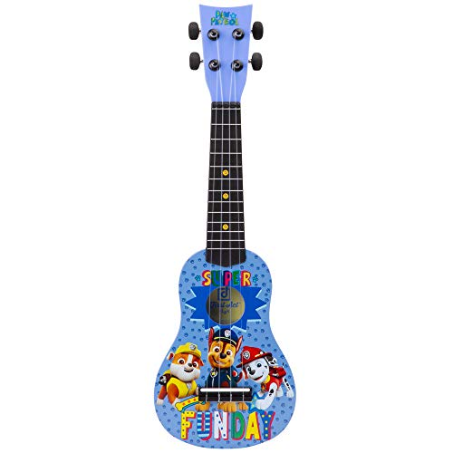 First Act Paw Patrol Toy Ukulele, 20 Inch - with Nylon Strings, Tuning Gears - Ukulele for Beginners, Musical Instruments for Toddlers - Features Chase, Marshall, and Rubble