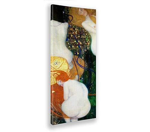 Giallobus - Quadro - Gustav Klimt - Pesci d'oro - Stampa su Tela Canvas - Pronto da Appendere - Vari Formati - 50x150 cm