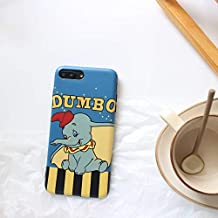 Ultra Slim Fit Smooth Soft TPU Dumbo Case for iPhone 7+ 7Plus 8Plus Large Size Sleek Disney Cartoon Protective Cute Lovely Gift Little Girls Teens Kids Boys Women The Flying Elephant Blue