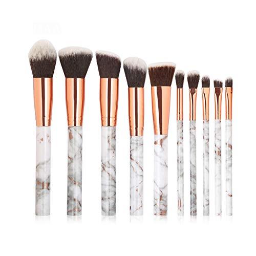 SDHF Maquillage Pinceaux professionnelle Fond de teint poudre Correcteur Ombre à paupières Lip doux Outils Pinceau Faire Comsestic, 10pcs / Kit (Couleur : Gris, Size : One Size)