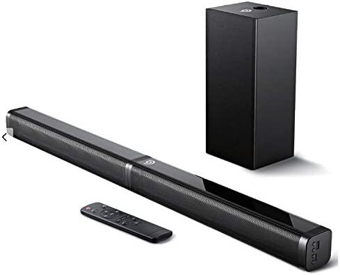 Bomaker Sound Bar with Subwoofer Ultra Slim 2 1 CH Sound Bars for TV 100W 110dB 5 EQ Modes 31 product image