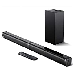 【SLIM SOUND BAR YET POWERFUL】Ultra slim detachable sound bar with 4 well-tuned full-range drivers and one powerful subwoofer pump out 110dB of room filling, stereo sound with 1% total harmonic distortion. Built-in DSP technology, contribute to more a...