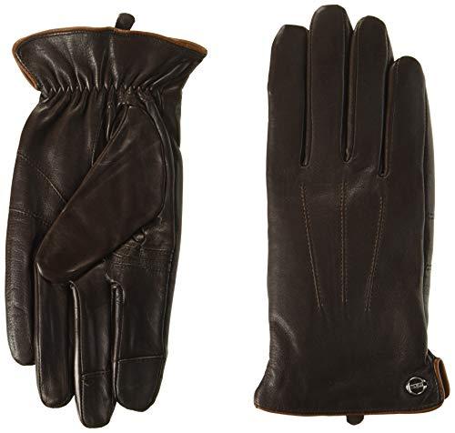 Elma Men Touchscreen Winter Leather Gloves Lining Cashmere (9, Brown, EM011NR1)