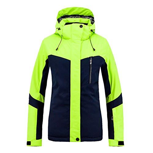 HUXIZ Skianzug Frauen Mountain Ski Jacke wasserdicht Winddicht Warmer Winter-Regenmantel for Frauen Anzug (Farbe : Grün, Size : XXL)