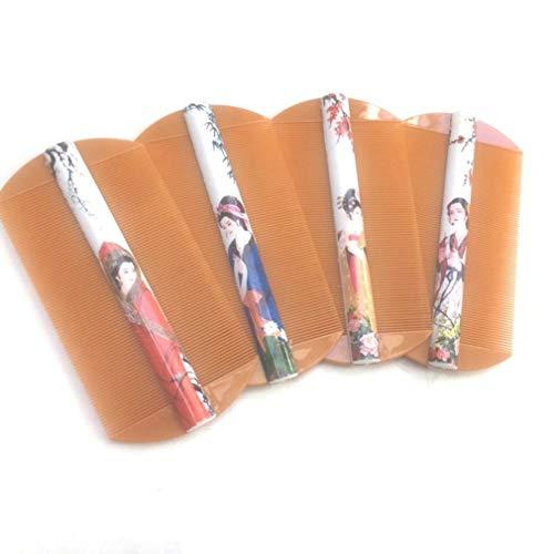 Super Narrow Dent Läuse Kamm Aus hochwertigem Kunststoff - Mit Massagefunktion - antistatisch MEHRWEG Bio-Pflegekamm - für Männer, Frauen und Kinder 4 pcs S:10.05×5.5cm