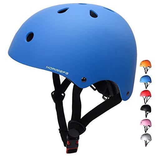 KORIMEFA Skateboard Bike Helmet CPSC Certified for Kids Youth Adult Adjustable Lightweight Multi-Sport Roller Skating Cycling Scooter Inline Skating Rollerblading Longboard for Men Women