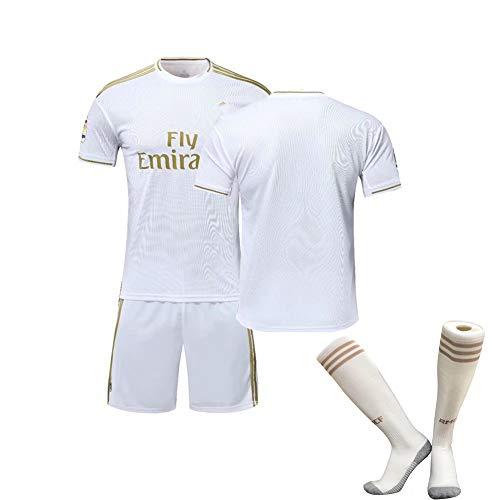 FDSEW Studenten Fußball Uniformen Anzüge Modric Nr. 10 ISCO Nr. 22 Herren Kinder Outdoor-Trikots, schnell trocknende Trainingsanzüge-White-XL