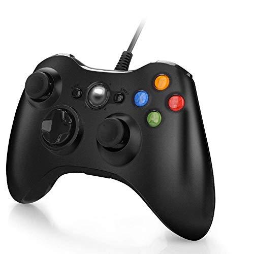 Y Team Manette pour Xbox 360 Manette Filaire avec USB Câble de 2 Mètre pour Xbox 360 / PC Windows 10/8 / 7