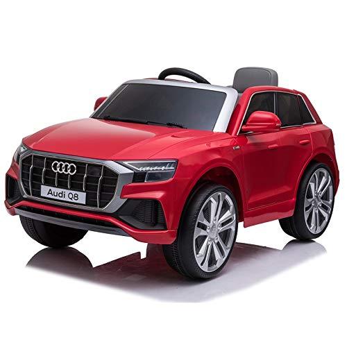 ATAA Audi Q8 batería 12v y Mando - Rojo - Coche eléctrico para niños Audi batería 12v