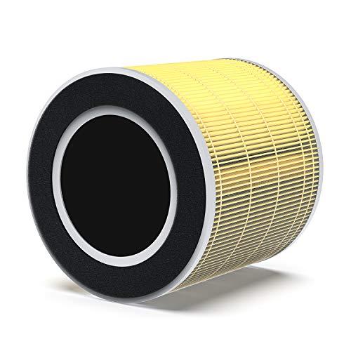 RENPHO True HEPA H13 Filtro de repuesto para RP-AP089W / RP-AP089B, filtración de 4 etapas, filtro HEPA, filtro de carbón activado, especialmente para el olor de alergias a mascotas