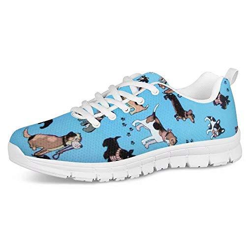 POLERO - Zapatillas Deportivas para Hombre y Mujer, Transpirables, con Cordones, con Estampado de Gatos, 35-48 EU