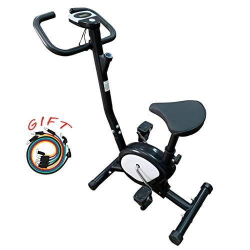 YQYJX Bicicleta Estática, Silenciosa, Monitor Deportivo, Resistencia Ajustable, Adecuada para Entusiastas del Fitness, Entrenamiento Aeróbico para Personas Mayores