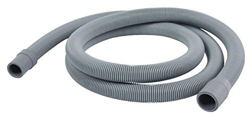 Eurosell Ablaufschlauch 21 mm gerade - 19 mm gerade 1.5 bar 90 °C 1.80 m + Halterung ! Für Geschirrspüler Spülmaschine Ablauf Schlauch Rohr flexibel