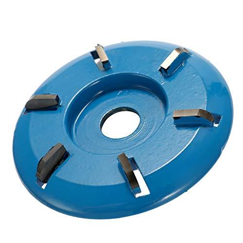 Baugger Disco de Talla de Madera - Herramienta de Disco de Cadena de Amoladora Eléctrica de 6 Dientes para Amoladora Angular de Apertura - Dientes de Arco