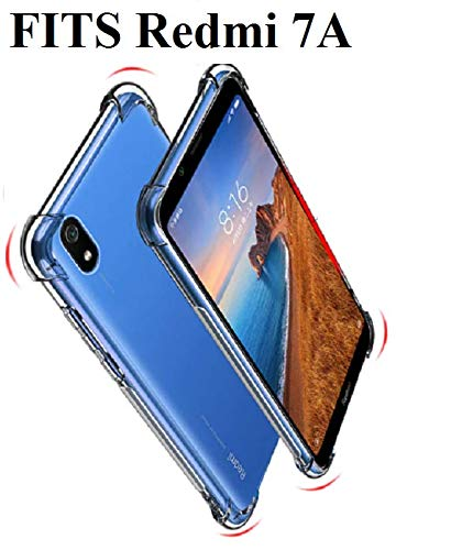 Bracevor Back Cover Case for Xiaomi Redmi 7A Flexible Shockproof TPU with Cushioned Edges(Transparent)