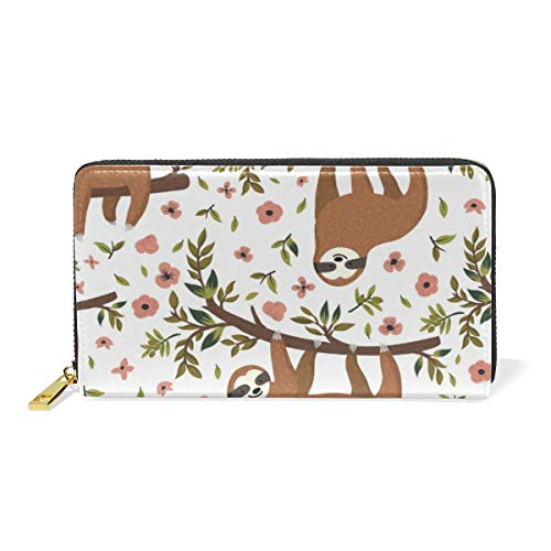XiangHeFu portefeuille vrouwen portemonnee luier bloem blad clutch tas rits leder