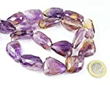 1 Strand bio Color ametrine Tumbled, Freeform Faceted 20'' Long Strand Gemstone Beads, Jewelry Supplies for Jewelry Making, for Meditation Jewellery for Reiki Healing Mystic Gemstone 23mm to 31mm